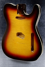 Telecaster Style body Bound Quilted maple top with binding 3-Tone Sunburst - Blem