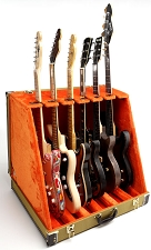 Professional Real Tweed 6 Guitar Folding Case- Folds to briefcase!