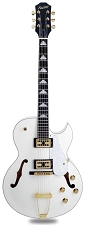 XV-950 Hollowbody GFS Retrotrons, Arctic White, Gold Hardware