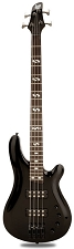 DLX Bass Active Preamp, Carved Body, Gloss Black, 24 Fret