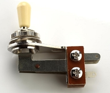 Cream Tip Right Agle USA Style SG Toggle Switch- Chrome