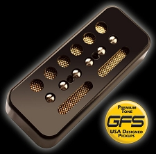 KP - GFS Gold Foil Single Coil Alnico Soapbar, Black - Kwikplug® Ready