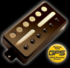 KP - GFS Gold Foil Single Coil Alnico Humbucker Shell, Black - Kwikplug® Ready