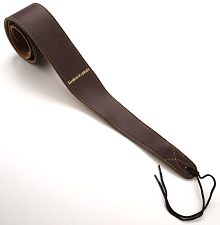 Deluxe Brown Leather Guitar Strap- 2 3/8