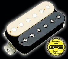 KP - Alnico Fat Pat Boutique Humbucker, Zebra - Kwikplug® Ready