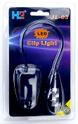 Dual LED Clip Light SUPER bright Gooseneck retail packaged