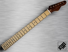 XGP Tele Style Neck Maple, Abalone Dot, Bound, Angled Headstock  - Blem