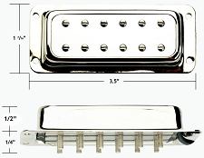 GFS NYIII Surface Mount Alnico III Humbucker NECK Position