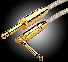 20 ft. OUR BEST- Straight/Right Angle Lo-Impedance Silver Cable- made in UK