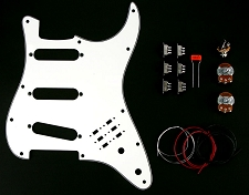 BHM Style Series/Phase Switching Kit 3 Ply White Pickguard