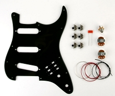 BHM Style Series/Phase Switching Kit Single Ply Black Pickguard