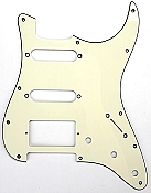 Strat Pickguard cut for Humbucker, 2 Singles