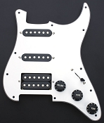 Humbucker Equipped HSS Guard- Tuxedo Black on white finish!