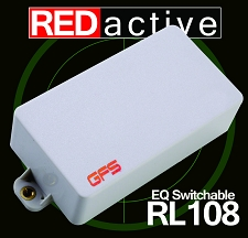 REDactive EQ Switching Humbucker Active Bridge position White