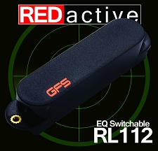 REDactive EQ Switchable Strat Active Neck position Black