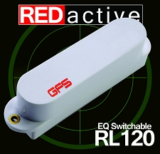 REDactive EQ Switchable Strat Active Bridge position White