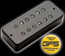 KP - Soapbar 180 Humbucker in a Soapbar P90 Shell, Black - HIGH OUTPUT - Kwikplug® Ready