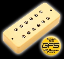 KP - Soapbar 180 humbucker in Soapbar P90 Shell, Cream - HIGH OUTPUT - Kwikplug® Ready