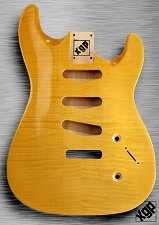 XGP Arched Top Strat Body Flamed Maple 3 Singles Vintage Natural - Blem