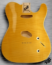 XGP Arched Top Tele Body Flamed Maple 2 Tele Pickups Vintage Natural - Blem