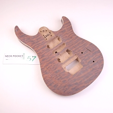 Satin Finished, Quilted, Double Cutway Body, HSH with Floyd Cut and Binding