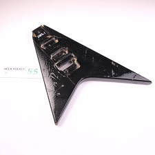 Gloss Finished, Black, Flying V Style Body, HH with Floyd Cut - LEFTY