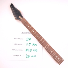 6 in Line, Satin Finished Maple Neck with Rosewood Fingerboard