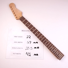 6 in Line Unfinished, Maple Neck with Rosewood Fingerboard