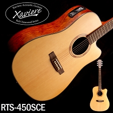 Xaviere ALL WOOD Electric Cutaway Dreadnaught Solid Spruce Top Bubinga