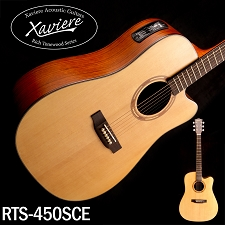 Xaviere ALL WOOD Electric Cutaway Dreadnaught Solid Spruce Top Walnut