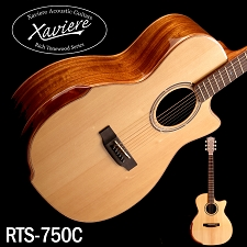 Xaviere ALL WOOD Premium Cutaway Black Walnut, Solid Spruce Top