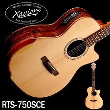 Xaviere ALL WOOD Premium Acoustic/Electric  Cutaway Laurel Negro, Solid Spruce Top