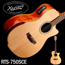 Xaviere ALL WOOD Premium Acoustic/Electric Cutaway Spalted Maple, Solid Spruce Top