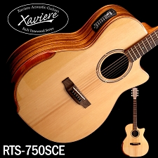 Xaviere ALL WOOD Premium Acoustic/electric Cutaway Zebrawood, Solid Spruce Top