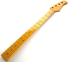 Bass Neck Vintage Amber Gloss Finish Maple Fingerboard- Blem