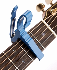 Quick Release Aluminum Capo Blue Finish