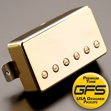 KP - Alnico Fat Pat Boutique Humbucker, Gold - Kwikplug® Ready