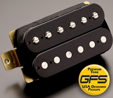 KP - Crunchy PAT High Output Humbucker, Black - Kwikplug® Ready