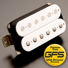 KP - Alnico Fat Pat Boutique Alnico Humbucker, White - Kwikplug® Ready