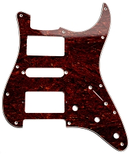 HSH Humbucker-Single-Humbucker Pickguard for Covered Pickups- Tortoiseshell