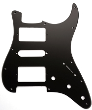 HSH Humbucker-Single-Humbucker Pickguard for Covered Pickups- Matte Black