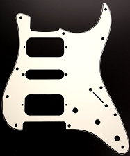 Strat HSHRadius Corner Pickguard for OPEN Pickups-