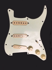 Pre-Wired pickguard- Cream hardware on mint Green 1962 Pickguard