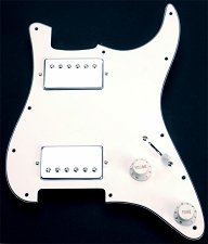 Wired Strat Pickguard 2 Chrome PAF Humbuckers