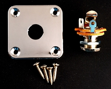 Sqaure Output Plate- Les paul, Telecaster Fit- FREE jack and screws!
