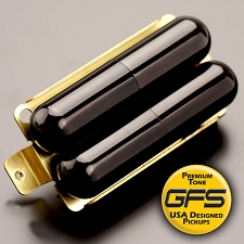 KP - GFS Pro-Tube Humbucker - Cool Chimey Tone, GLOSS BLACK - Kwikplug® Ready