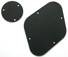 LP rear control covers- Black.