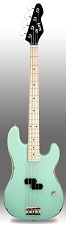 Surf Green Slick SLPB Solid Ash Bass Guitar Maple Fingerboard SLick Alnico Pickup