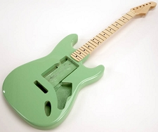 SPECIAL PURCHASE! Surf Green Strat Style GLUED-IN Setneck, Swimming Pool Rout TOP, Maple F/B