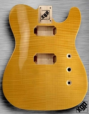 XGP Arched Top Tele Body Flamed Maple 2H Vintage Natural - Blem (No Holes Drilled)